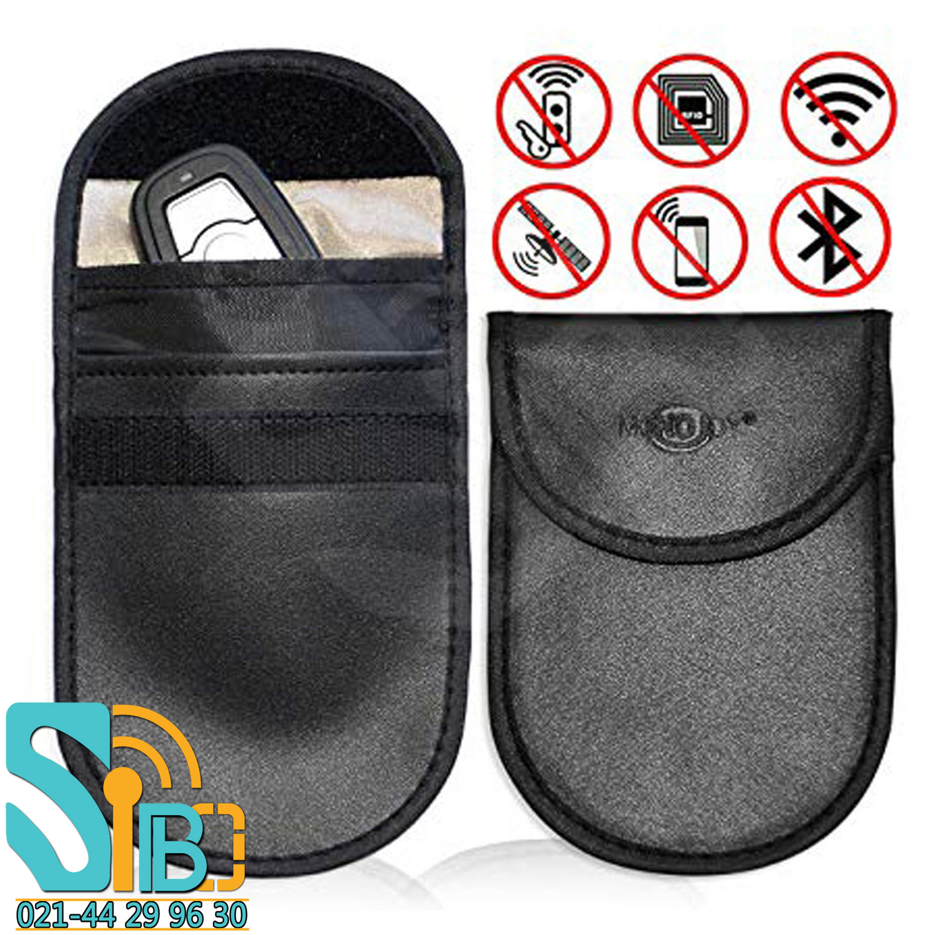 Mobile phone signal jammer bag